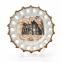 Тарелка фарфоровая с золотой каймой D 160 мм 51KT03